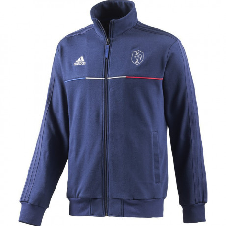 adidas FFR France Rugby Track Top Blue Image