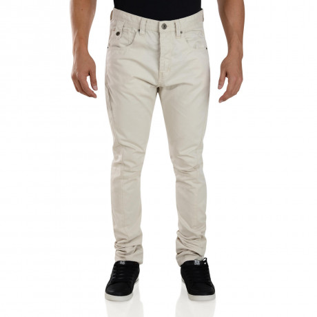 Crosshatch Riccachino Jean Chinos Trousers Oatmeal Beige Image