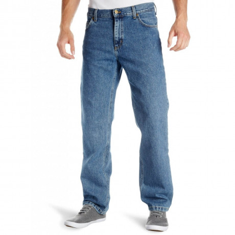 Lee Brooklyn Denim Jeans Stonewash Blue Image