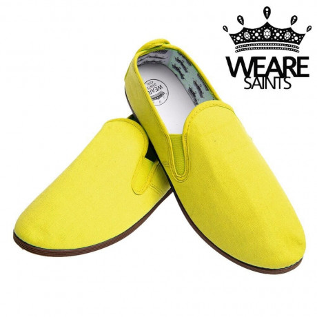 We Are Saints Canvas Shoes Espadrilles Plimsolls Yellow Image