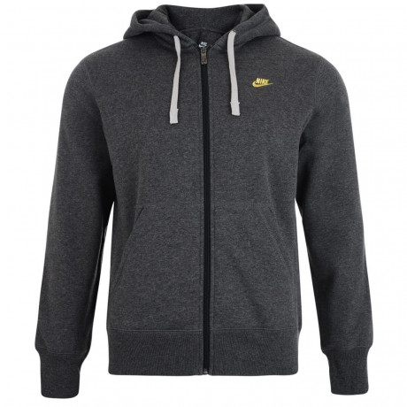 Nike Full Zip Hooded Sweatshirt Jacket Mid Grey Image