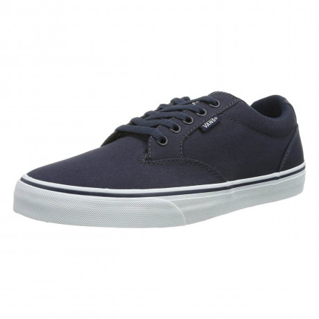 Vans Winston Canvas Trainers Navy White Image