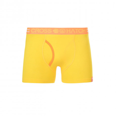 Crosshatch Plain Boxer Shorts Underwear Citron Yellow Image