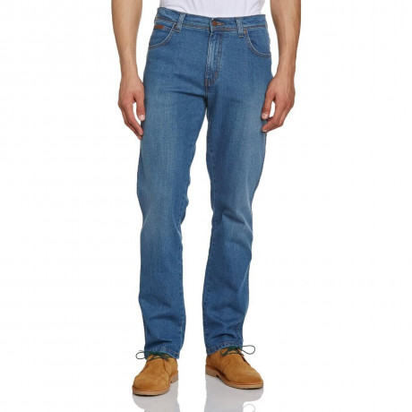 Wrangler Texas Stretch Denim Jeans Savage Blue Image