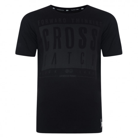 Crosshatch Printed Reverse One Logo T-shirt Black Image