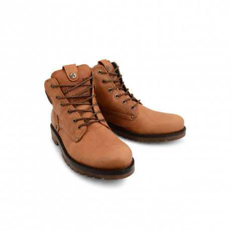 Wrangler High Leather Boots Rust Brown Shoes Image