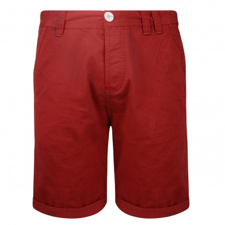 Soul Star Casual Summer Chino Shorts Red Image