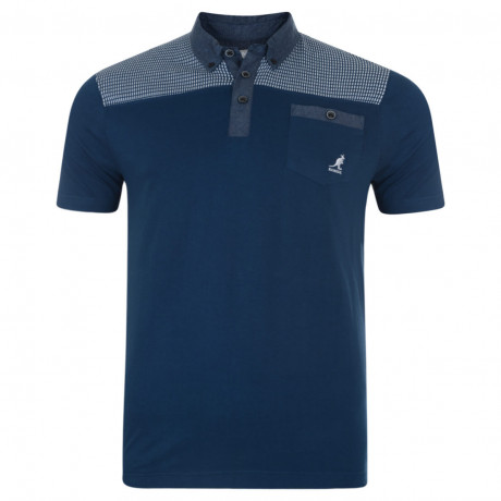 Kangol Polo Pique T-Shirt Denim Blue Image