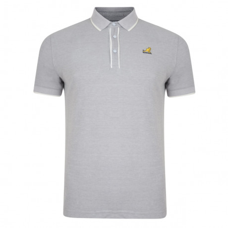 Kangol Polo Pique T-Shirt Hinton Grey Marl Image