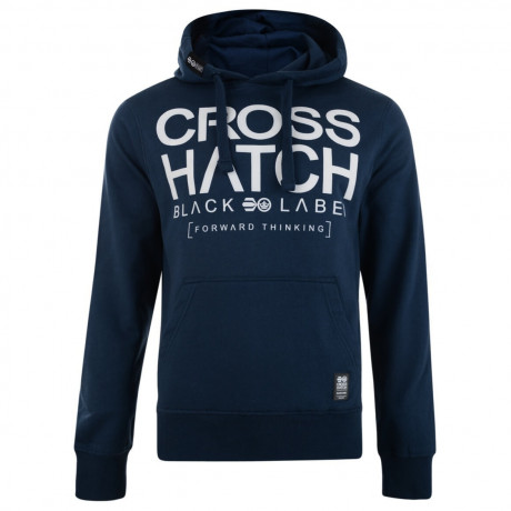 Crosshatch Corez Logo Hooded Sweatshirt Blue Wing Image