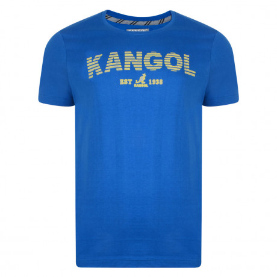 Kangol Crew Neck Logo T-shirt Ocean Blue Image
