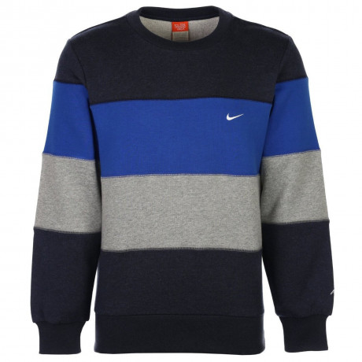 Nike Blue Striped Sweatshirt Jumper Image