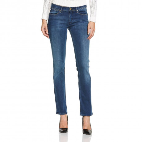 Wrangler Drew Stretch Denim Jeans Blue Willow Image