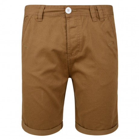 Soul Star Casual Summer Chino Shorts Tobacco Brown Image
