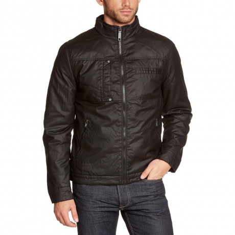 Blend Padded Cotton Jacket Black Image