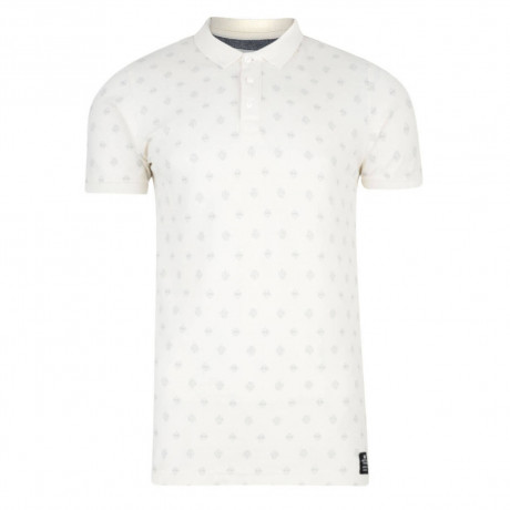 Crosshatch Repeater Polo Pique T-Shirt Vaporous Grey Image