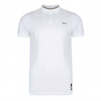 Crosshatch Bowden Polo Pique T-Shirt White Image