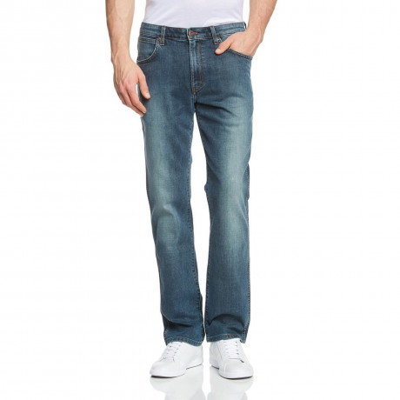 Wrangler Arizona Stretch Denim Jeans Downpour Blue Image