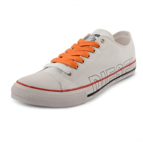 Diesel Mens Canvas Shoes Fashion Plimsolls White Image