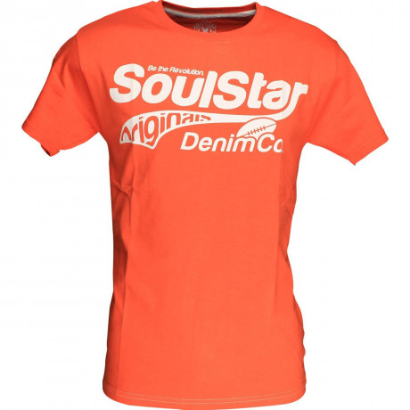 Soul Star Logo Print T-shirt Orange Image