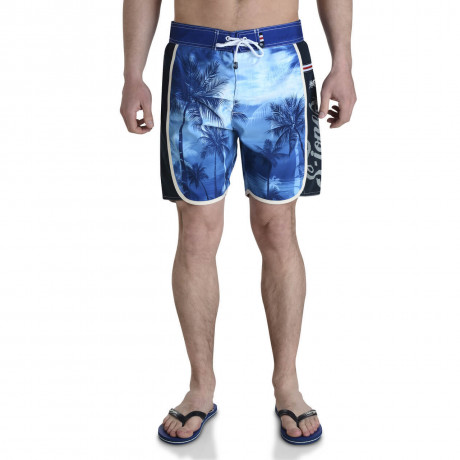 Smith & Jones Beach Swim Shorts & Flip Flop Set Kokomo Blue Image