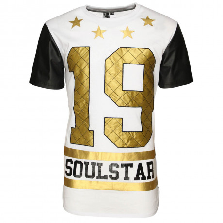 Soul Star Crew Neck Birch Logo T-shirt White Image