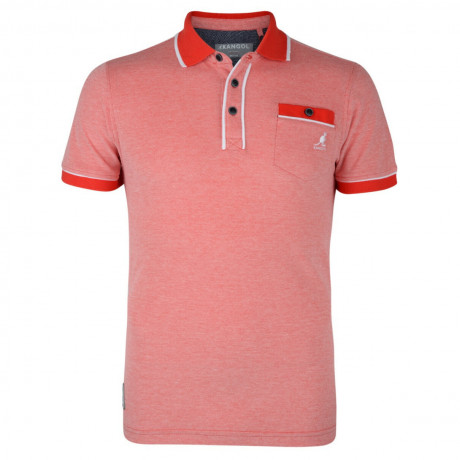 Kangol Polo Pique T-Shirt Red Marl Image