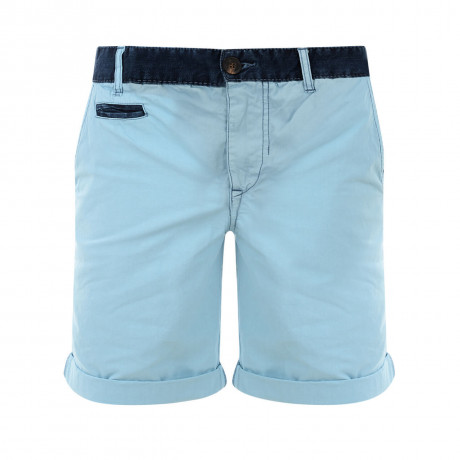 Blend Casual Cotton Chino Shorts Light Blue Image