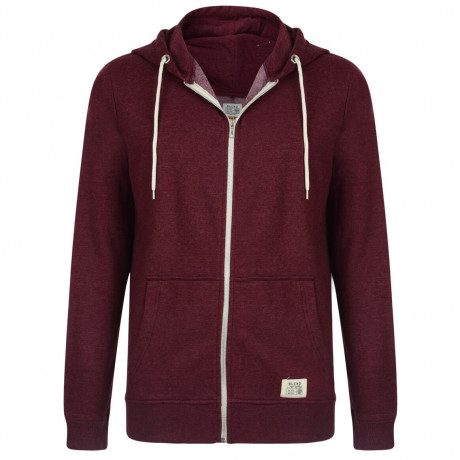 Blend Zip Up Hoodie Burgundy Image