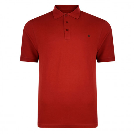 Farah Polo Pique T-Shirt Chilli Red Image