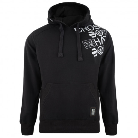 Crosshatch Millhouse Logo Hooded Sweatshirt Black Image