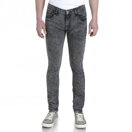 Soul Star Slim Tapered Skinny Fit Dark Wash Snow Jeans Image