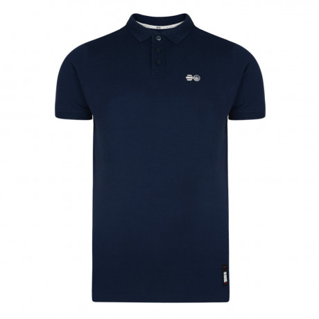 Crosshatch Bowden Polo Pique T-Shirt Navy Blue Image