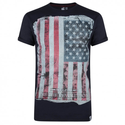 Soul Star Print T-shirt American Revolution Navy Image