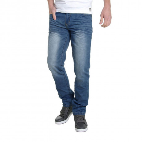 Crosshatch Straight Fit Farrow Jeans Faded Light Stone Wash Image