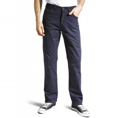 Wrangler Texas Stretch Jeans Light Fabric Navy Blue Image