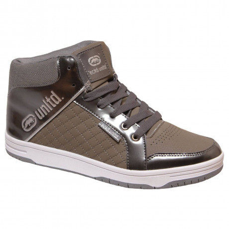 Ecko High Top Trainers Pewter Grey Image