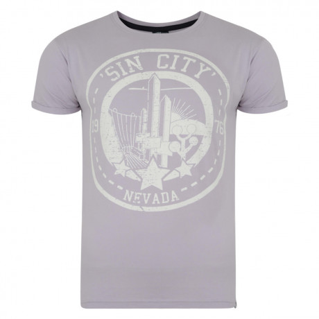 Soul Star Print T-shirt Sin City Las Vegas Purple Image
