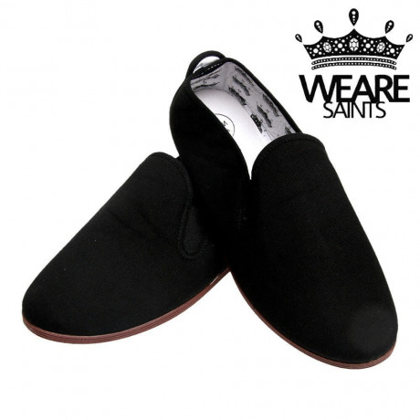We Are Saints Canvas Shoes Espadrilles Plimsolls Black Image