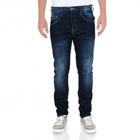 Lee Cooper Tapered Fit Slim Norris Jeans Faded Dark Wash Blue Image