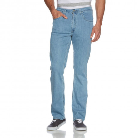Lee Brooklyn Straight Stretch Jeans Super Stonewash Image
