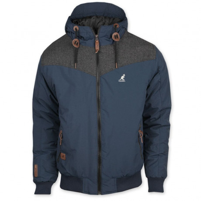 Kangol Silvertone Hooded Jacket Navy Blue Image