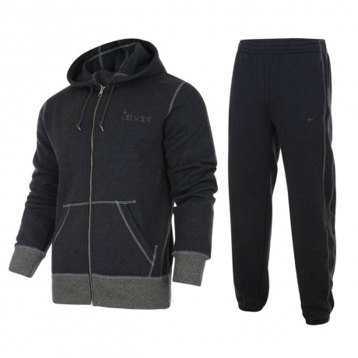 Nike Full Tracksuit  Dark Grey Marl Image