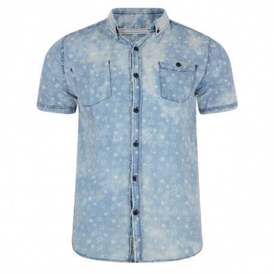 Soul Star Short Sleeve Shirt Faded Light Blue Image