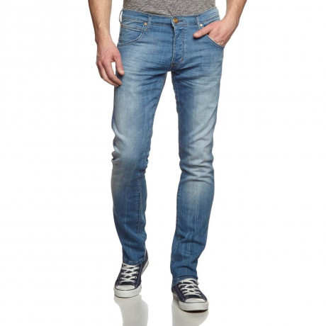 Wrangler Spencer Slim Fit Denim Jeans Torrent Blue Image