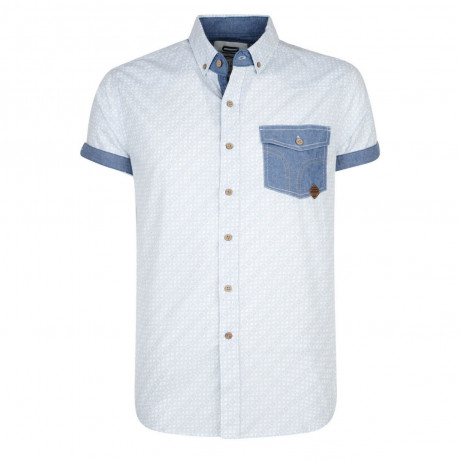Smith & Jones Priviledge Pattern Shirt Short Sleeve White Image