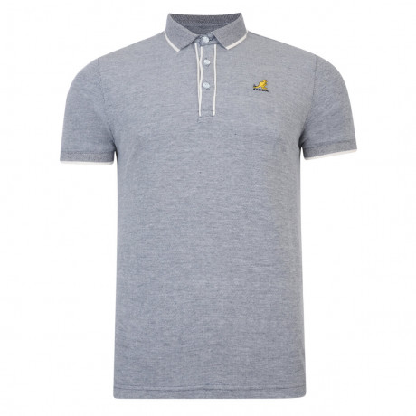 Kangol Polo Pique T-Shirt Hinton Navy Marl Image