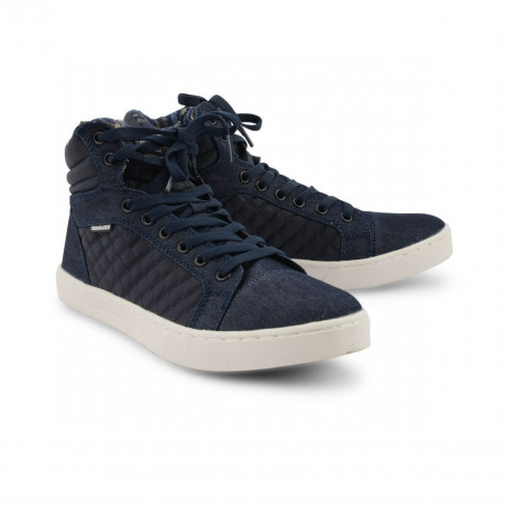 Crosshatch High Top Canvas Shoes Blue Image