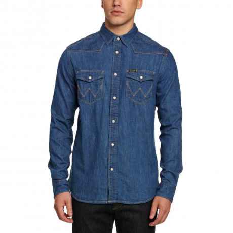 Wrangler Indigo Blue Denim Shirt Image
