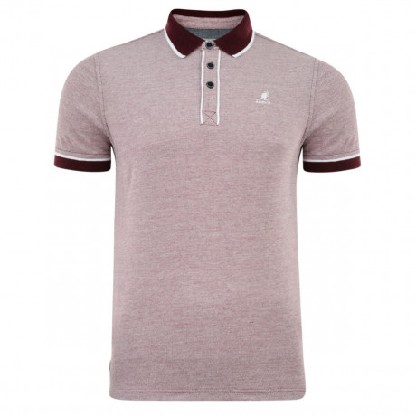 Kangol Hough Polo Pique T-Shirt Port Wine Marl Image